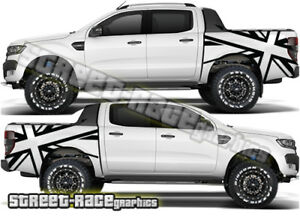 Details Zu Ford F 150 Rear Bed Tub 019 Ranger Union Jack Stickers Graphics Decals