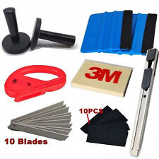 9 in1 Car Wrap Application Tool 3M Blue Felt Edge Decals Sticker Vinyl Squeegee