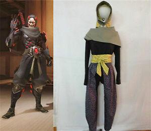 Game Oni genji Evil Ghost Cosplay Costume Full Sets Custom Made
