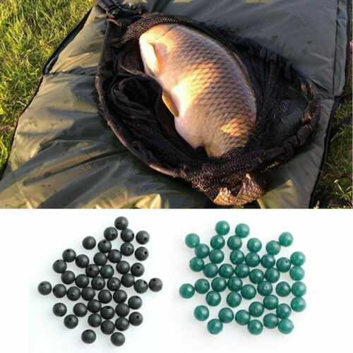 20pcs Rubber Shock Beads 4mm 6mm 8mm Rig Making Buffer Beads Fishing