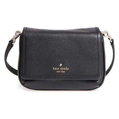 Kate Spade New York Cobble Hill Abela Crossbody Shoulder Bag (Black)