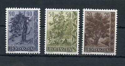 Die Nieren NäHren Und Rheuma Lindern !!! 111698 Liechtenstein Nr.371-373 ** BÄume/strÄucher Me 28,-+