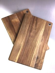 Chopping-Serving-Rectangle-Boards-Set-Of-2-Acacia-Wood-Scratch-amp-Dent-Sale