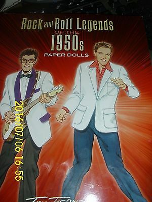 "PAPER DOLLS ""ROCK AND ROLL LEGENDS OF THE 1950'S""  TOM TIERNEY  GREAT PEOPLE"