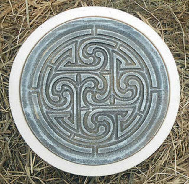 concrete Pagan wicca celtic stepping stone plastic mold