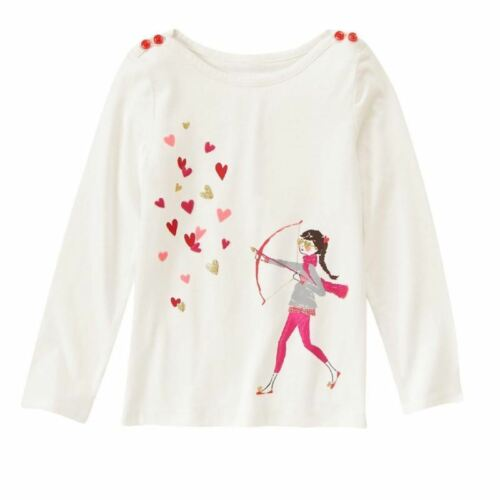 Gymboree Valentines Day Love top New NWT girls 5 archer cupid hearts shirt