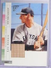 2003 Topps Gallery Artifacts Relic Lou Gehrig Bat #AR-LG Yankees *57752