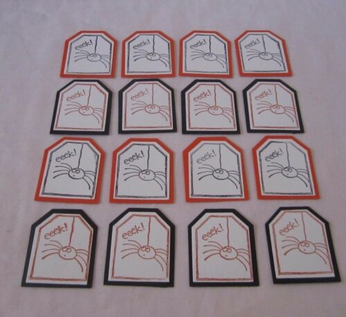 "Lot of 16 Stampin Up Tags So Much /""EEK/"" Tag Orange /& Black Tags ONLY"