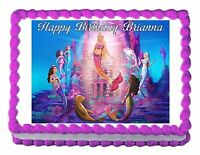BARBIE A MERMAID'S TALE edible cake image decoration cake topper frosting sheet