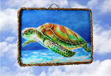Tropical Beach Ocean 31 Sea Wall Decor Art Prints Turtle lalarry Ventage framed