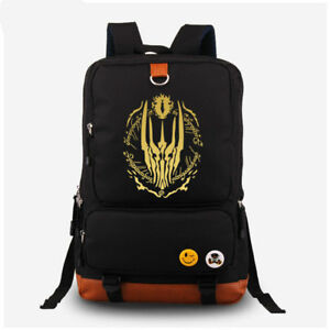 dadf5e5109bf The Lord of the Rings backpack Shoulder School Messenger black Bag ...