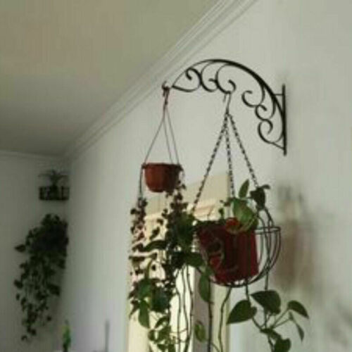 Gusseisen Wandbehang Blumen Korb Halter Haken Gartenpflanze Pflanzgefäß Metall