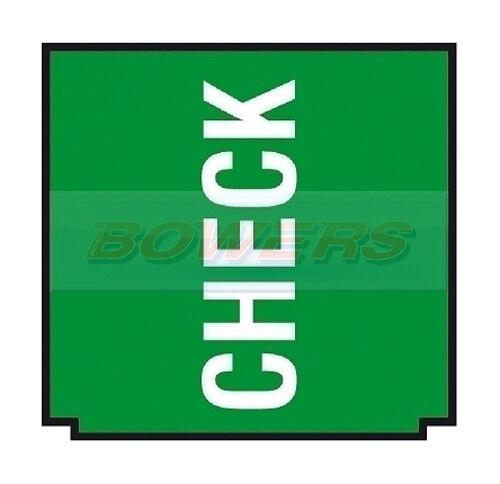 COBO 13.350 ROCKER SWITCH GREEN INSERT CHECK WARNING SYMBOL