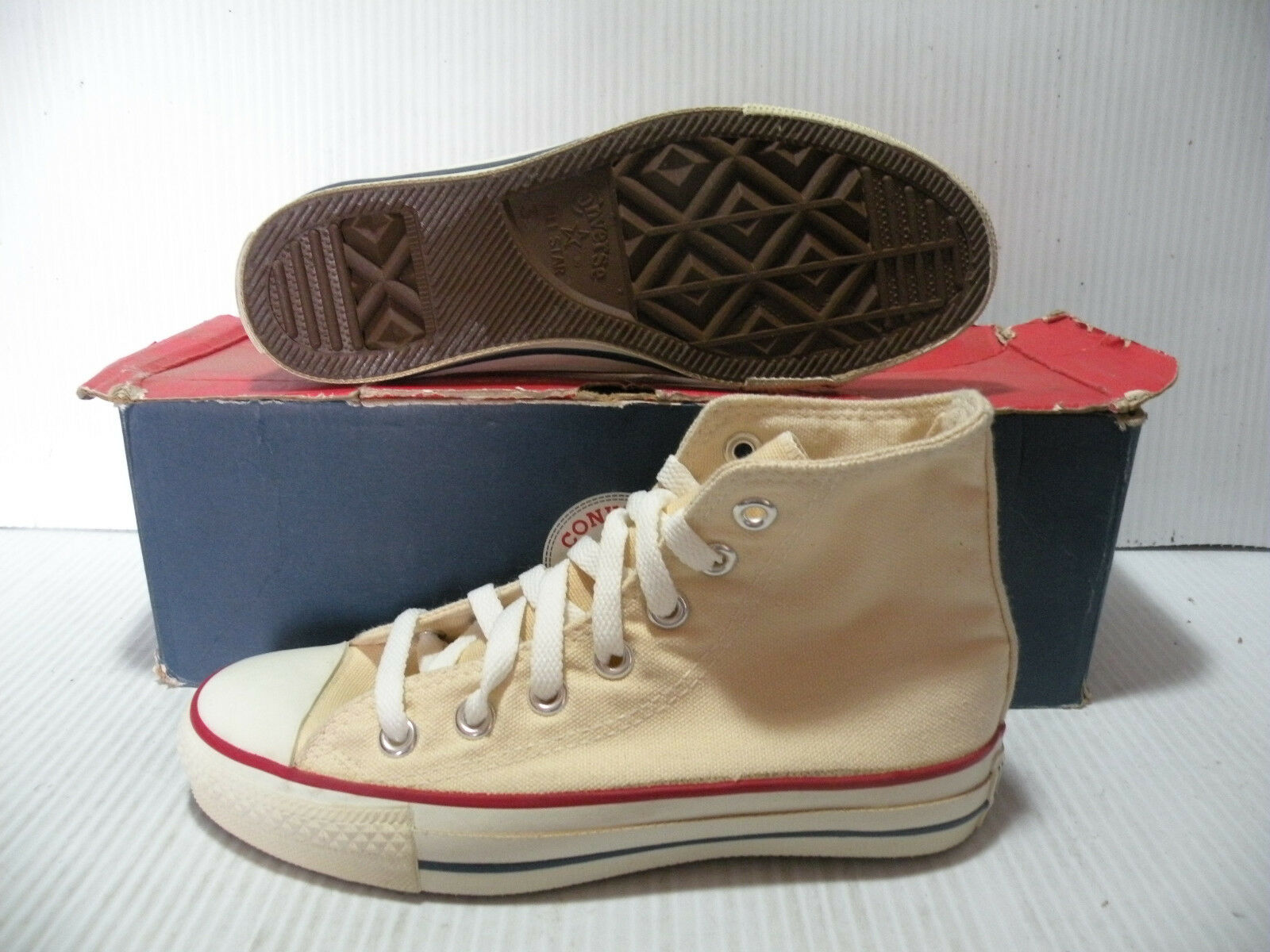 CONVERSE ALL STAR CHUCK TAYLOR VINTAGE MADE IN USA MEN 13 SHOES WHITE 13768 SIZE 13 MEN f91e8c