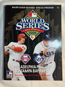 2008 MLB WORLD SERIES PROGRAM: PHILA. PHILLIES vs TAMPA ...