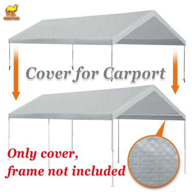 10/'X20/' Canopy Replacement Cover White Tarp Top Only Common mod SHELTER LOGIC