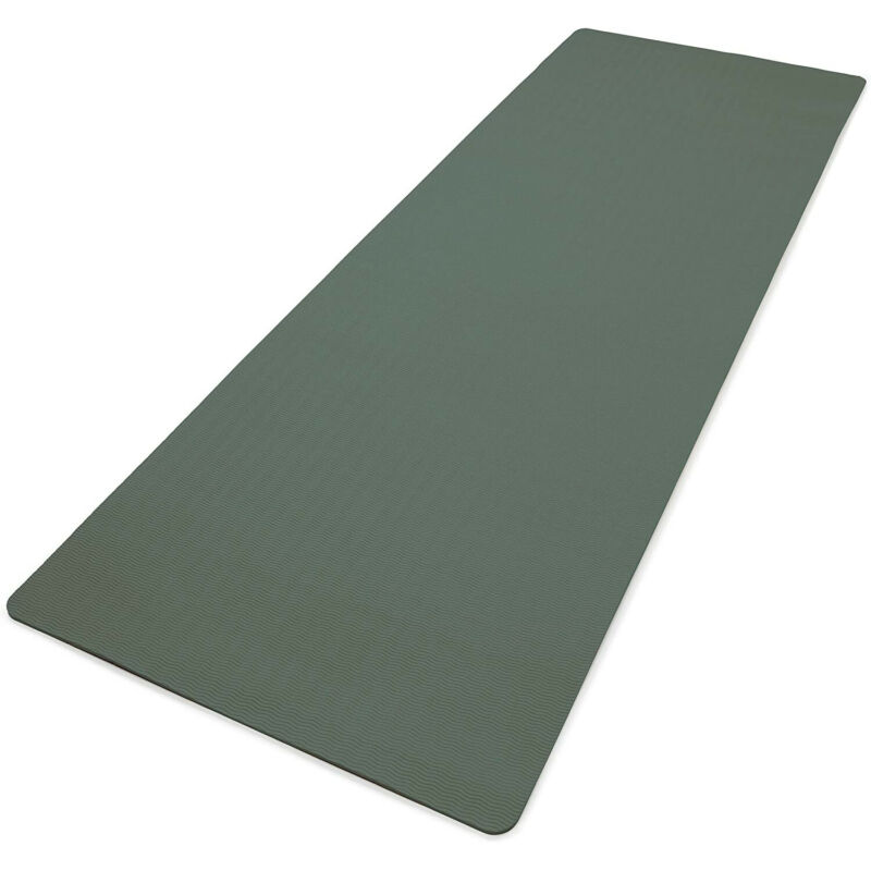 Adidas Universal Exercise Slip Resistant Fitness Yoga Mat, 8mm Thick, Raw Green
