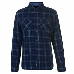 SoulCal-Mens-Flannel-Shirt-Long-Sleeve-Casual-Lightweight-Cotton-Print-Chest