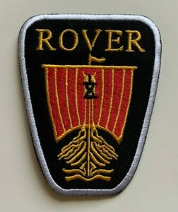 ROVER-VIKING SHIP-MOTOR RACING CAR FESTIVAL - Embroidered Iron on Sew on PATCH