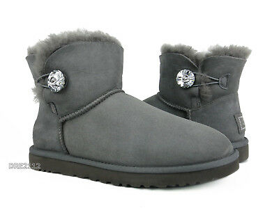 bfdee9ce248 UGG Australia Bailey Button Bling Mini Grey Boots Womens Size 9 *NIB*  887278472841 | eBay