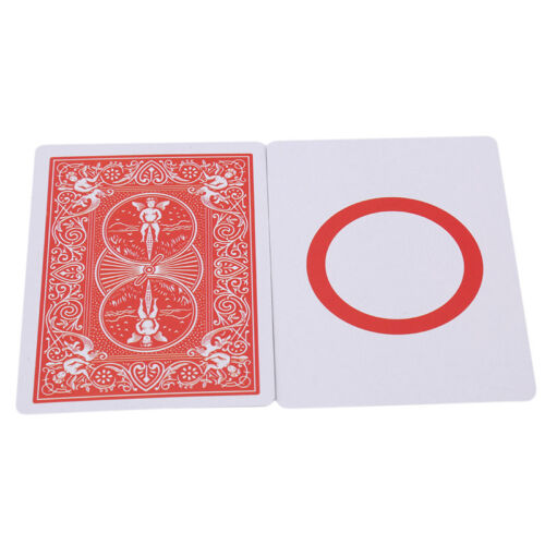 Blank Red Back Playing Cards by Bicycle Card Deck Gaff Magic G