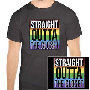 315234404b48 Straight Outta the Closet - Rainbow T-Shirt - LGBT Gay Lesbian ...