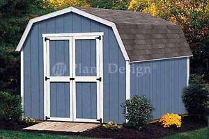 10 X 8 Pentes Toit/barn Hangar Building Plans, Matériel Liste Comprenait #31008-afficher Le Titre D'origine