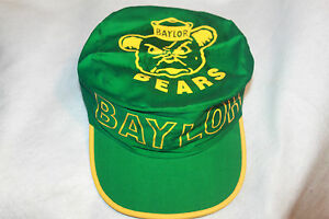 timeless design 9557b 46e71 Image is loading Baylor-Bears-Hat-NCAA-Painters-Cap-Vintage-New-