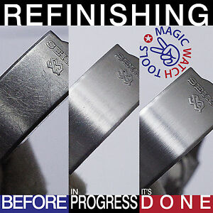 3-x-Refinishing-Pad-Satin-Brushed-GOLD-STEEL-TITANIUM-Watch-Scratch-Removal