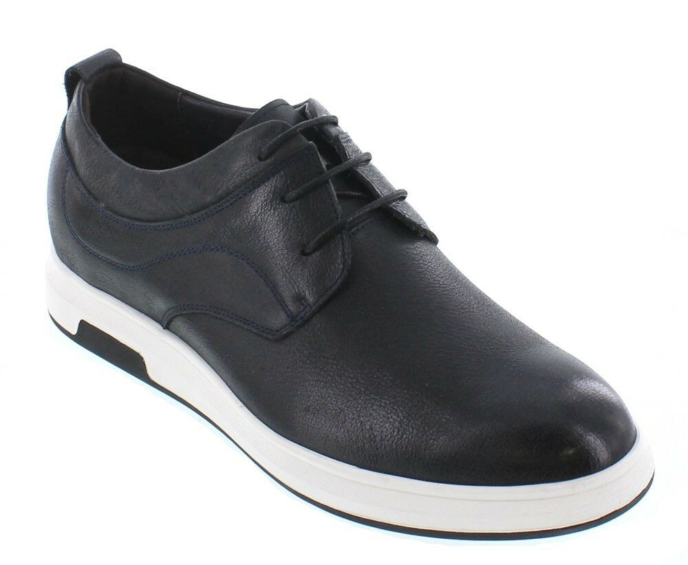 CALTO J93226 - 2.4 Inches Elevator Height Increasing Dark bluee Slate Casual shoes