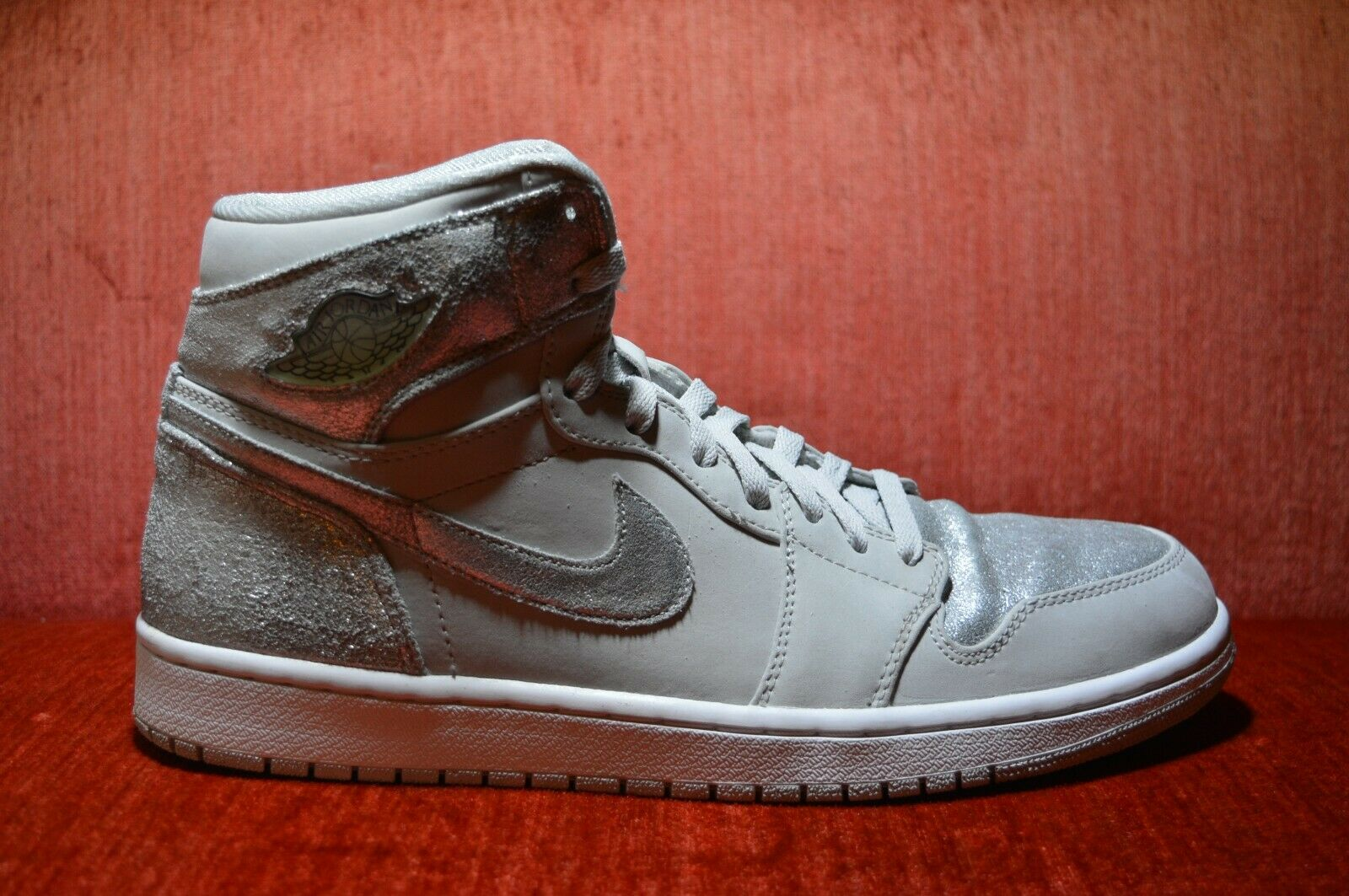 CLEAN Nike Air Jordan Retro 1 Hi Silver 25th Anniversary 396009 001 Size 12
