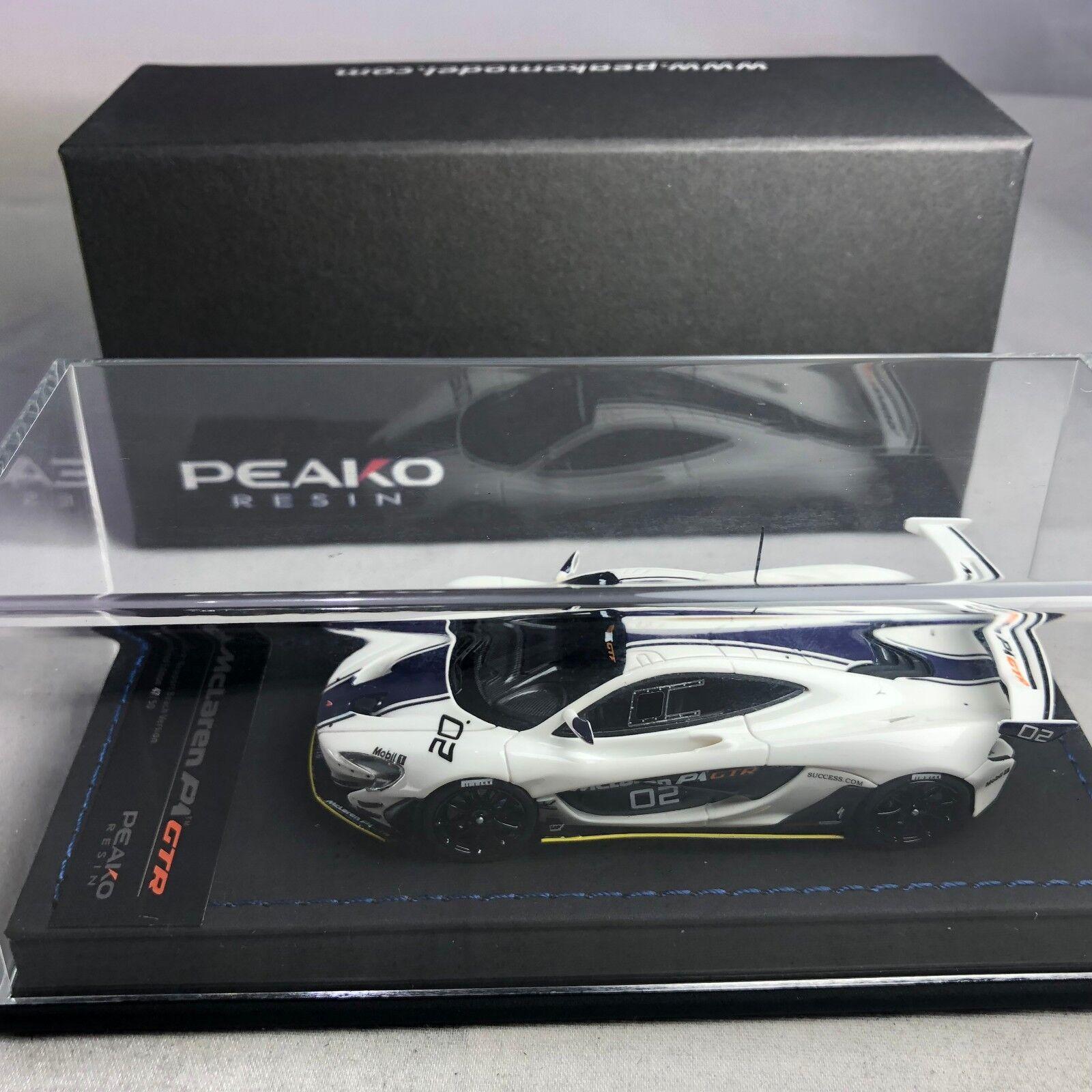 1/43 Escala Modelo Peako McLaren P1 GTR Newport Beach Blanco