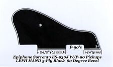 Sorrento LEFT HAND ES930J 5-Ply Blk P-90's Pickguard for Epiphone Guitar Project