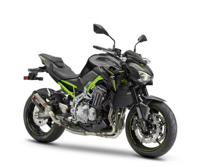 Akrapovic Escape 258EXP0086 con Carbono Placa Calor 032CCS0036 Für Kawasaki Z900