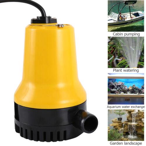 Tauchpumpe Wasserpumpe 4600rpm elektrische Pumpe 12V//24V A50W