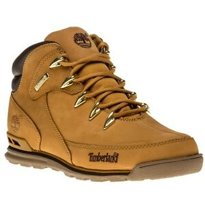 7d5c76abcb6 Details about New Mens Timberland Tan Euro Rock Hiker Nubuck Boots Lace Up