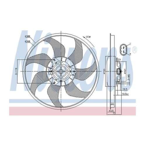 Fits Vauxhall Corsa MK3 1.0 Genuine Nissens Engine Cooling Radiator Fan