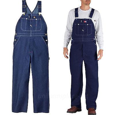 New DICKIES 83294 NB Mens BIB Overall Denim Indigo Blue Rinse Farm Work Uniform