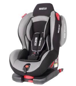 Sparco Child Seat F500i Evo Isofix Grey Ece Safety Auto Car Baby