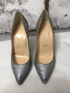 1f1edde2f32 Details about Christian Louboutin Gold Silver Ombre Glitter Pigalle Follies  Size 35 1/2 / 5 US