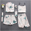 Sleepwear-7-Pieces-Pyjama-Set-2019-Women-Spring-Summer-Sexy-Silk-Pajamas-Sets-Sa miniatura 13