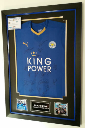 CHAMPIONS Leicester Signed Shirt with AFTAL DEALER COA