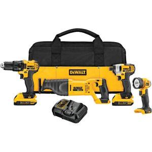 DEWALT-20V-MAX-Li-Ion-4-Tool-Combo-Kit-DCK420D2-Certified-Refurbished