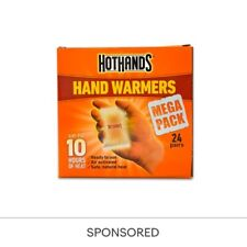 48 x HOTHANDS BODY HAND WARMER 10HRS DISPOSABLE POCKET HEATER MEGA PACK 24 PAIRS