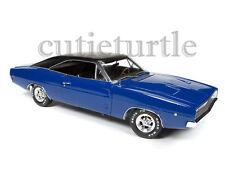 Autoworld 1968 Dodge Charger Christine Movie 1:18 Diecast Model Car Blue AWSS111