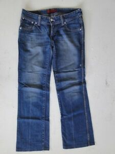 Levis 537 Blau W30 Hose Jeans Stonewashed donna L32 Slim xrUXxHT