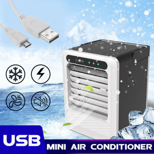 US Portable Mini Air Conditioner Cooler Cooling USB Fan Humidifier Purifier Home