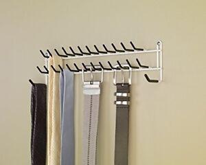 Create A Closet Friendly Belt Rack From A Wooden Hanger