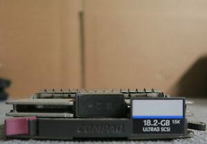 """Brillant Hp 189395-001 - 3.5"""" 18.2 Go 15k Ultra 3 Scsi Disque Dur Avec Enfichables à Chaud Caddy-afficher Le Titre D'origine Apparence éLéGante"""