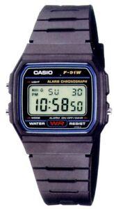 Casio-F-91W-Orologio-crono-luce-sveglia-batt-7-anni